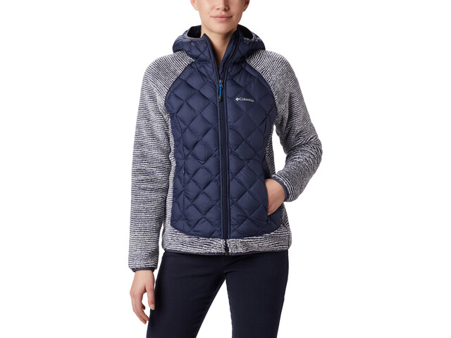 Columbia Techy Giacca ibrida in pile Donna, nocturnal/white stripe